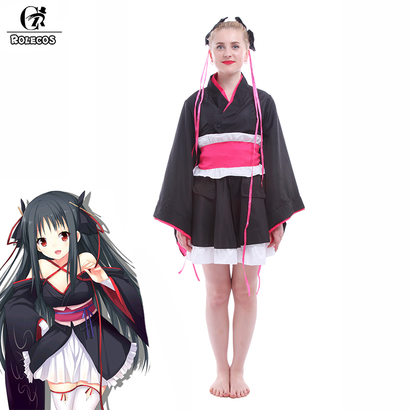 ROLECOS Anime Unbreakable Machine-Doll Cosplay Costume Japanese Kimono School Girl Uniform Outfits Yaya Cosplay Costumes(China (Mainland))