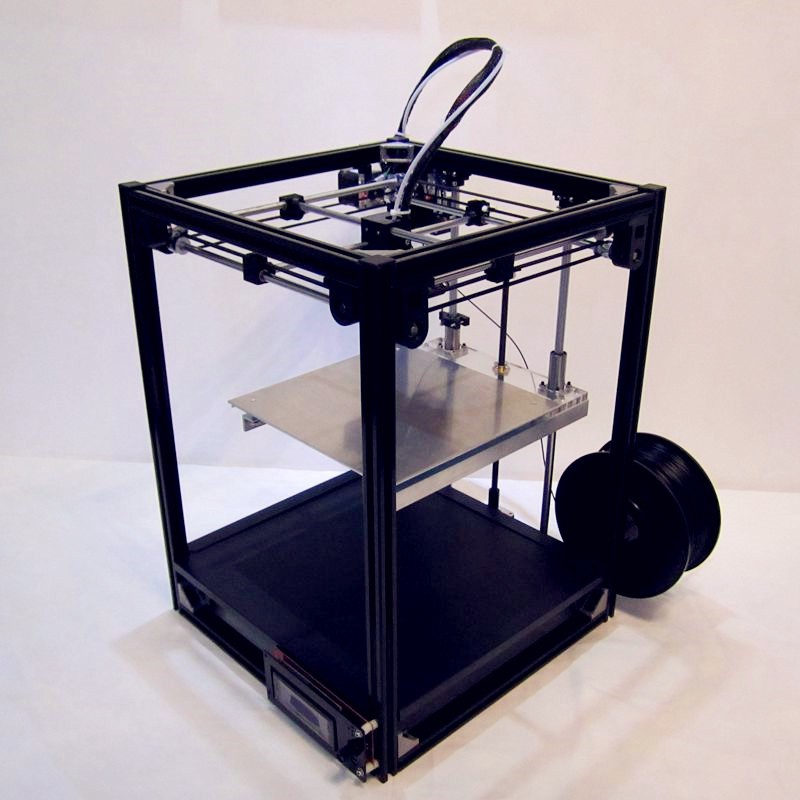 Free shipping large size metal fuselage   High Quality Precision DIY 3D printer kit with LCD Ultimaker2 structure