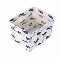 Linen Desk Storage Box Holder Jewelry Cosmetic Stationery Organizer for Home Office Workshop Garage