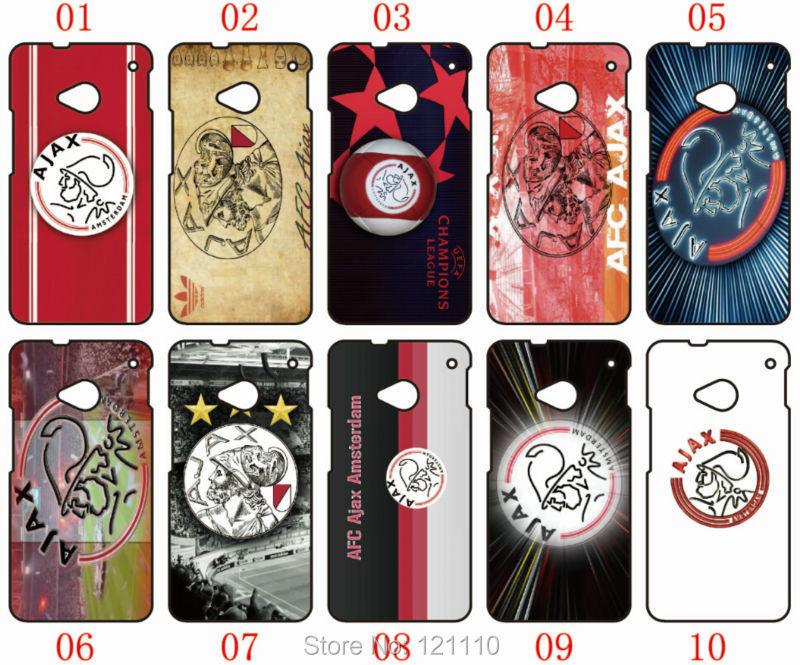 1PC Hot Retail AFC Ajax Team logo Case Plastic Hard Cover For HTC one X, M7, M8 Mobile Phone Cases Free Shipping(China (Mainland))