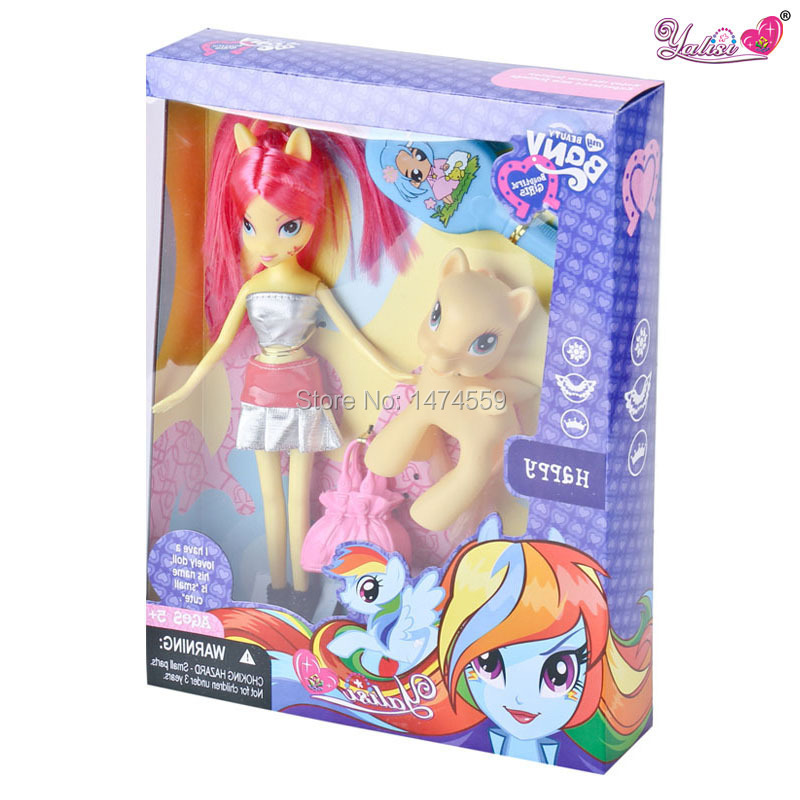 Hot sel anime Little Ponys Girls One Piece Only Barbiee doll for girls For Christmas Decorations Boneca Barbiee high dolls inc(China (Mainland))