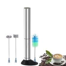 Handheld Elétrico de Aço inoxidável máquina de Café Leite Frother Whisk Mixer Egg Beater Foamer Agitador Cozinha Blender Auto Mexa Para(China)