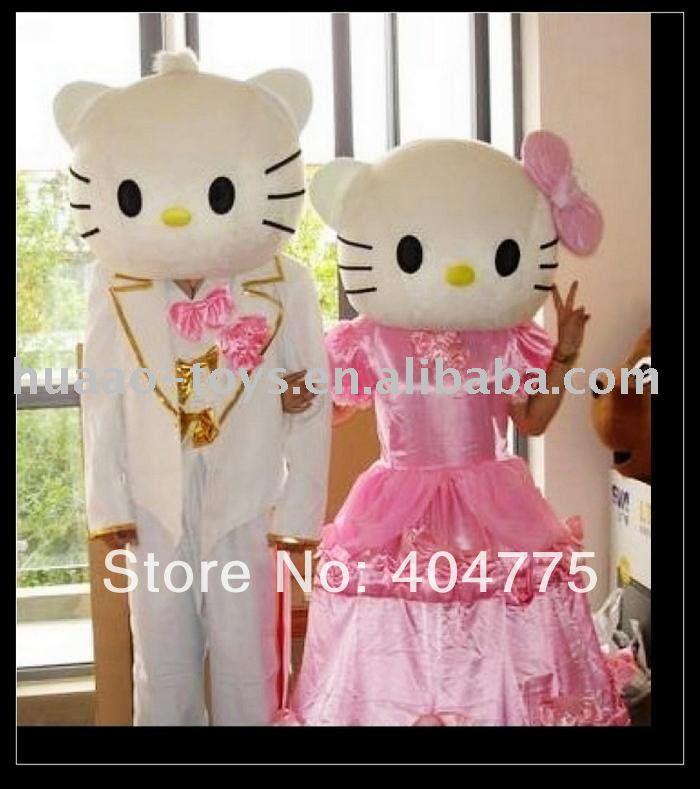 Inflatable hello kitty mascot costume,EVA+short/long plush+inner fan for fresh air inside(China (Mainland))