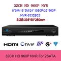H 264 NVR ONVIF 32CH 960p 720p HDMI 1080P HD P2P Cloud network support 2HDD 4TB