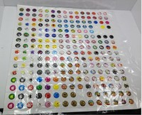 330pcs/set  Cartoon Rubber Home Button Sticker for iPhone 4 4s 5G 5S ipad 2 3 4 5 AE01196