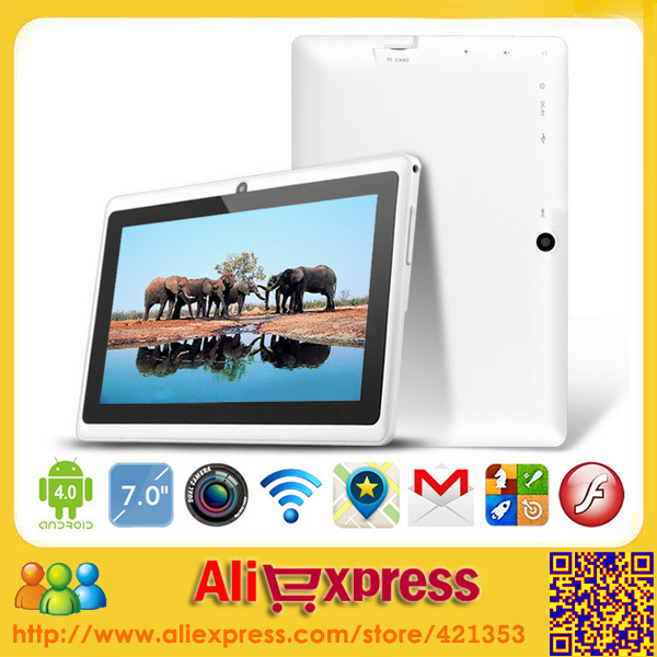 Wholesale Cheapest 7 inch Tablet PC Android 4.1 Q88 Allwinner A13 Dual Camera External 3G(China (Mainland))