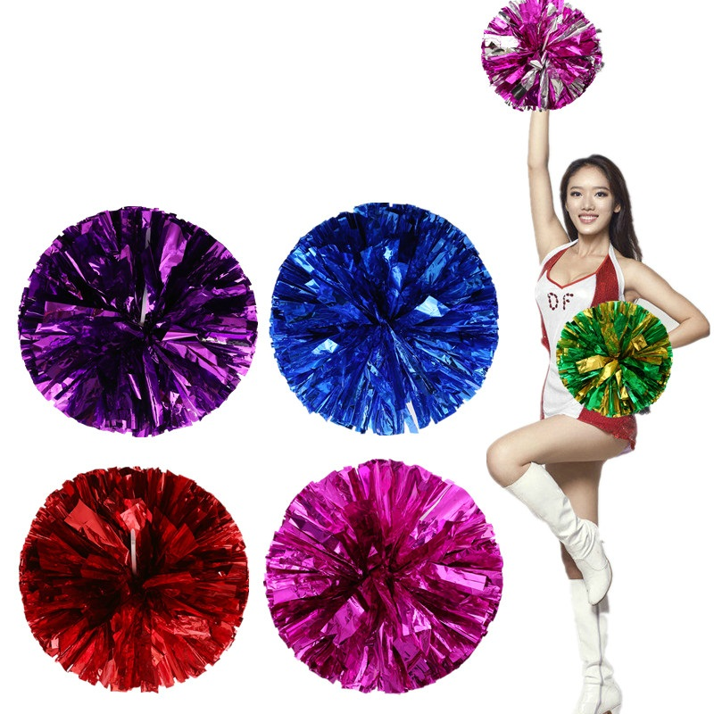 Cheerleaders hand flower Cheerleading Pom Poms Aerobics Show Dance Hand Flowers Cheerleader Pompoms for Football Basketball 60g(China (Mainland))