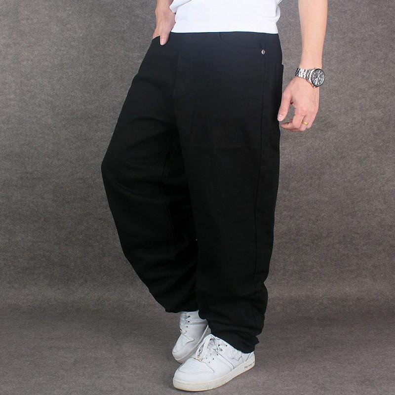 hip hop baggy jeans black mens denim hip hop loose pants