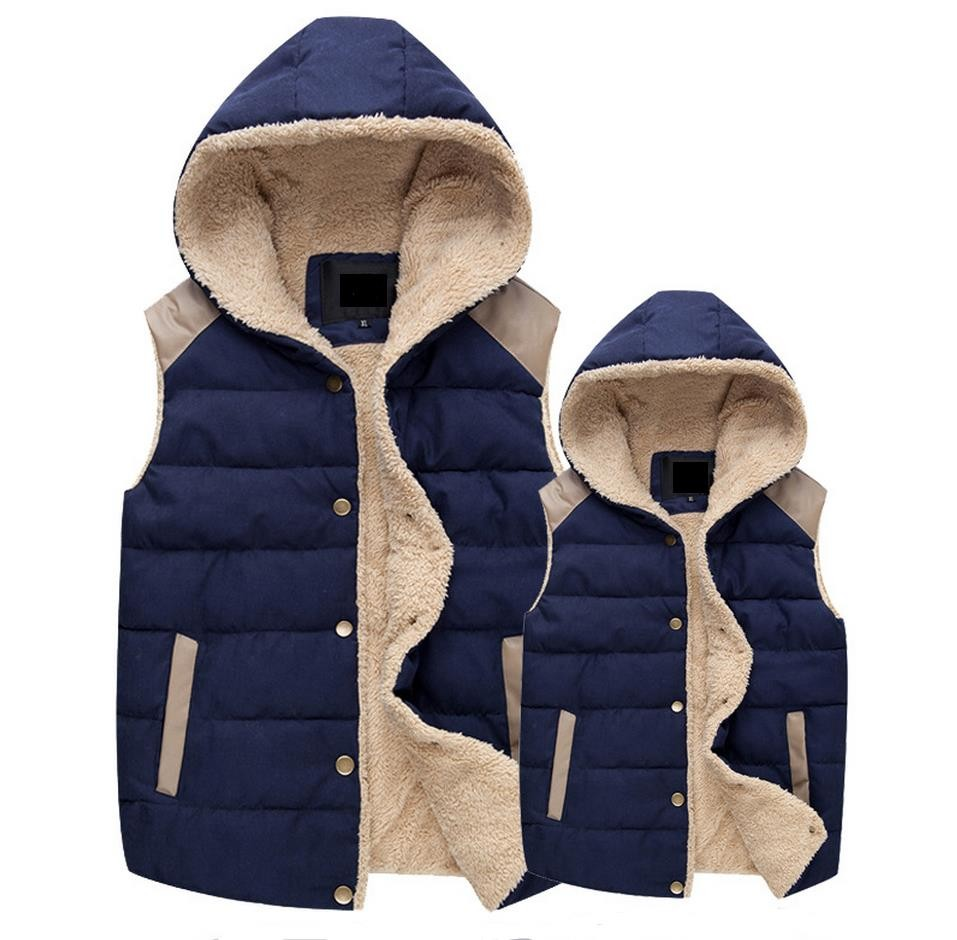 Free Shipping 2017 man and Women's Autumn and Winter Hooded Thick Warm Down Cotton Waistcoat Cotton Vest M-XXXL