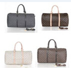 New Popular High Quality Pu Leather Travel Bags For Men Women handBags Large Crossbody Bags L Lattice Plaid Travel Duffle(China (Mainland))