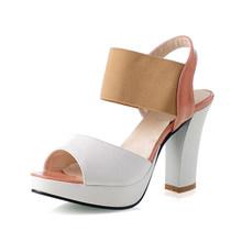 Karinluna 2018 גדול גדלים 30-46 ציוץ הבוהן פלטפורמת קיץ נעלי אישה סנדלי אופנה עקבים גבוהים מסיבת תאריך נעליים הנעלה(China)