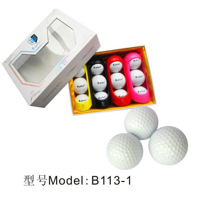 B113-4three piece golf ball, 3pcs package new promotion golf ball, practice golf ball