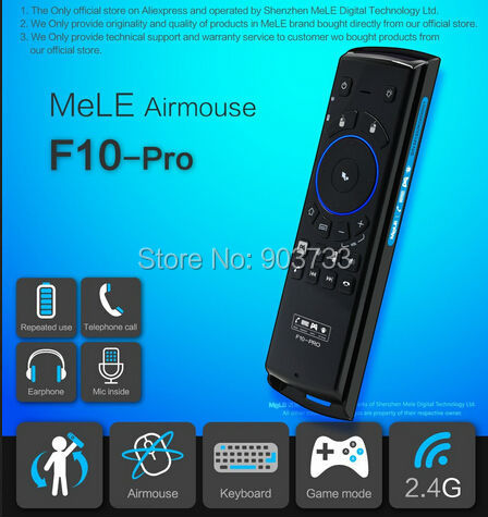 Air Mouse Wireless Remote Control Keyboard MeLE F10 Pro USB 2.4GHz Earphone Microphone Speaker for Android Mini PC , Gyroscope