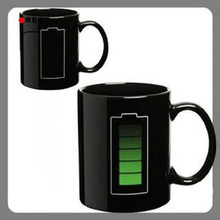 Wholesale Price Battery Color Changing Thermometer Heat Sensitive Porcelain Coffee Cup mug(China (Mainland))