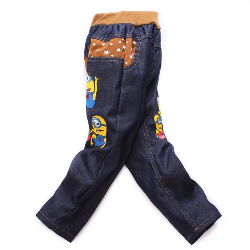 Kids Fashion Minion Clothes Boys Jeans Pants For Children Slim Jeans Casual Pants