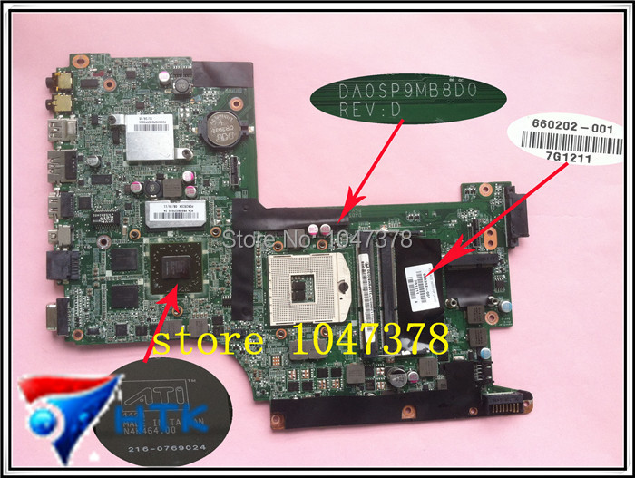 Wholesale 660202-001 for HP envy 17 motherboard  DA0SP9MB8D0 100% Work Perfect<br><br>Aliexpress