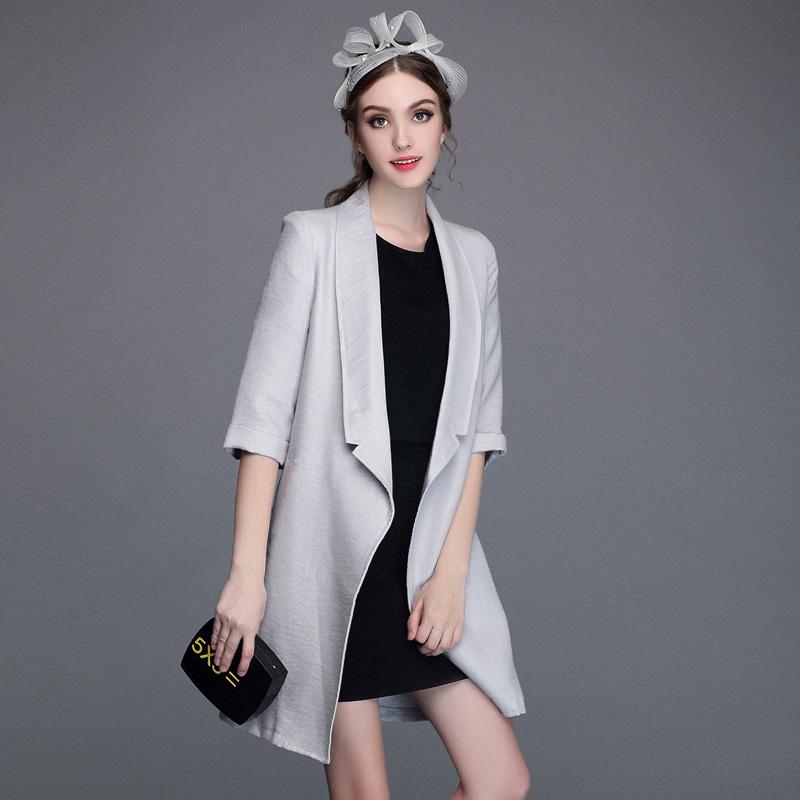 Miuco2015 autumn womens fluid suit collar ol medium-long all-match suit jacket femaleОдежда и ак�е��уары<br><br><br>Aliexpress