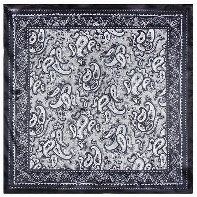 60 см * 60 см Богемный кешью небольшой шарф Женщин и мужчин ретро этническом стиле шелк небольшой площади