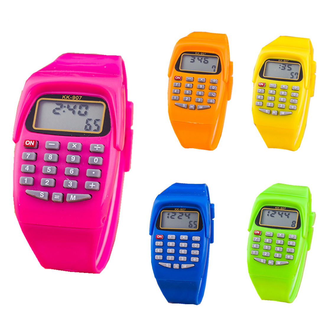 High Quali Fashion Digital Calculator With LED Watch Function Casual Silicone Sports For Kids Children Multifunction Calculating