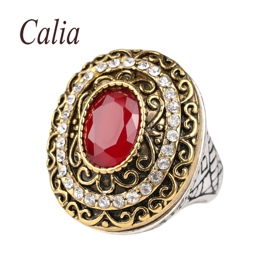 Classic turkey style vintage ruby jewelry fashion rings Vintage style fashion rings