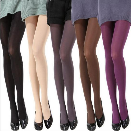 80D Velvet Sexy Women's Nylon Compression Tights Crotchless Silk Stockings Pantyhose Upshift Bottoming Medias Pantis Woman CI151(China (Mainland))
