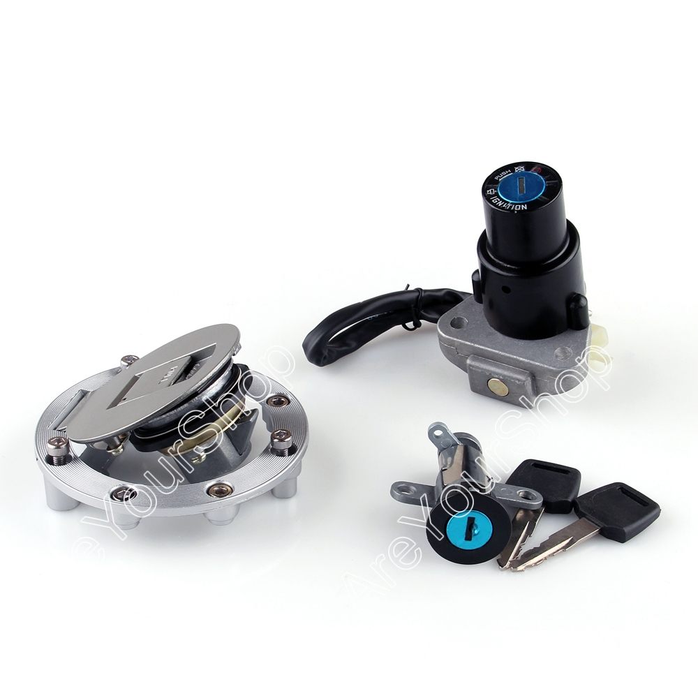 Motorcycle Lockset Universal Ignition Key Switch Lock+ Fuel Gas Cap + Seat Lock + Keys For Yamaha TZR125 TZM150 TZR150