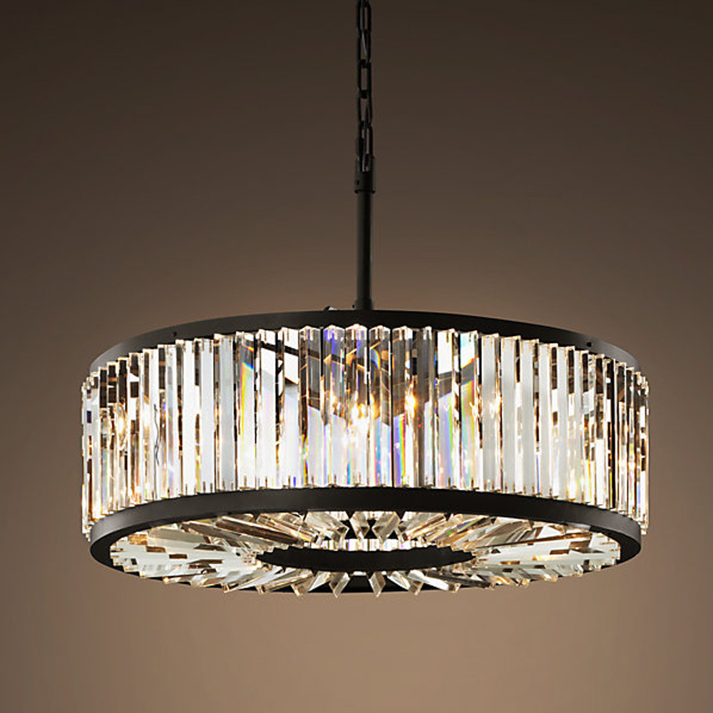 Loft modern crystal chandelier light for dining room led crystal chandeliers round lamp crystal - Crystal chandelier for dining room ...