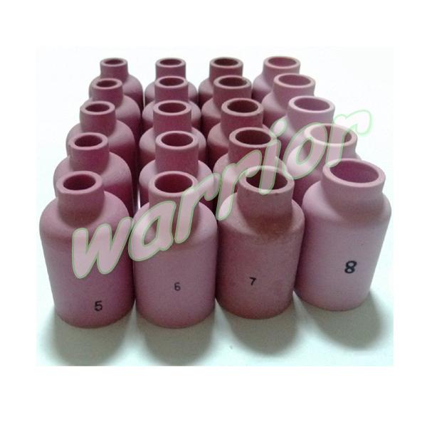 20pcs Ceramic Nozzles Cups for TIG Torch WP 17 18 26 54N14 #8 54N15 #7 54N16 #6 54N17 #5(China (Mainland))