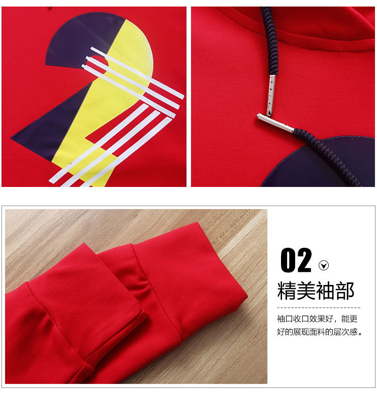 Red Cotton Casual Trouser Suit 2 Piece Set Women 2016 Autumn New Casual Set Long Pants And Top Casual Pants and Cap Shirts