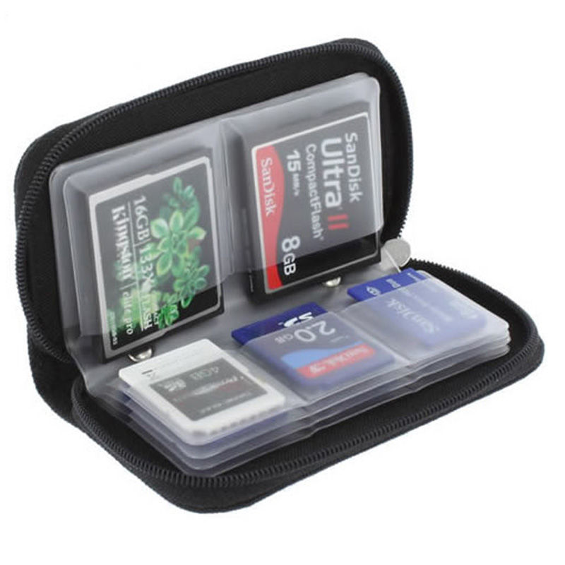 Black Memory Card Storage Carrying Case Holder Wallet For CF/SD/SDHC/MS/DS 3DS/Memory Stick Pro Duo/MiniSD/ MicroSD Game card(China (Mainland))
