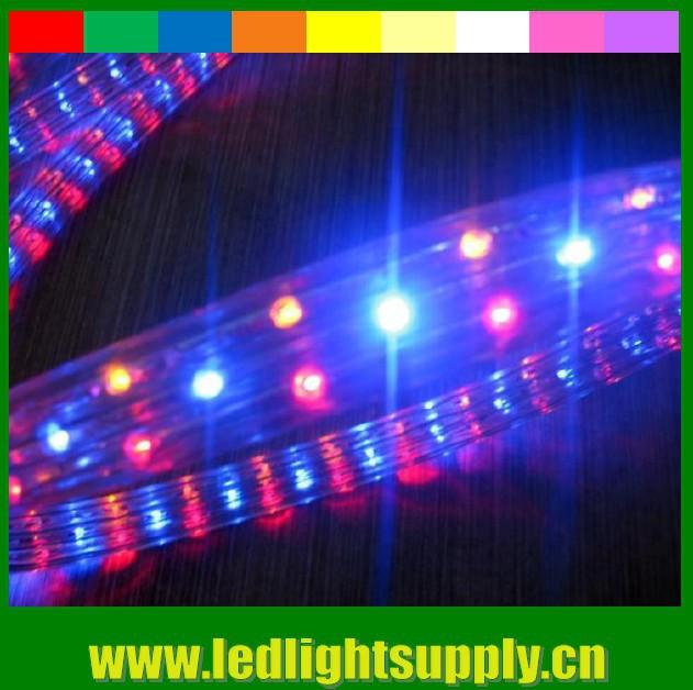12V 24V DC 4 wire 11X20mm 50m spool led christmas rope light RBY or RGB rainbow strip ribbon duralight led rope light 108led/M(China (Mainland))