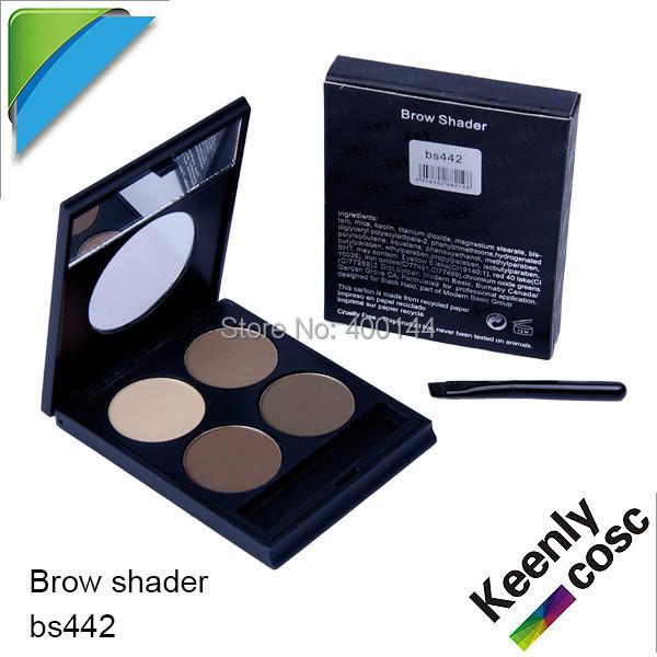 TNT Free Shipping!High Quality BH Eyebrow Shade 4 colour EYEBROW Powder Palette with Brush Make Up Eyebrow Shadow;240PCS/LOT(China (Mainland))