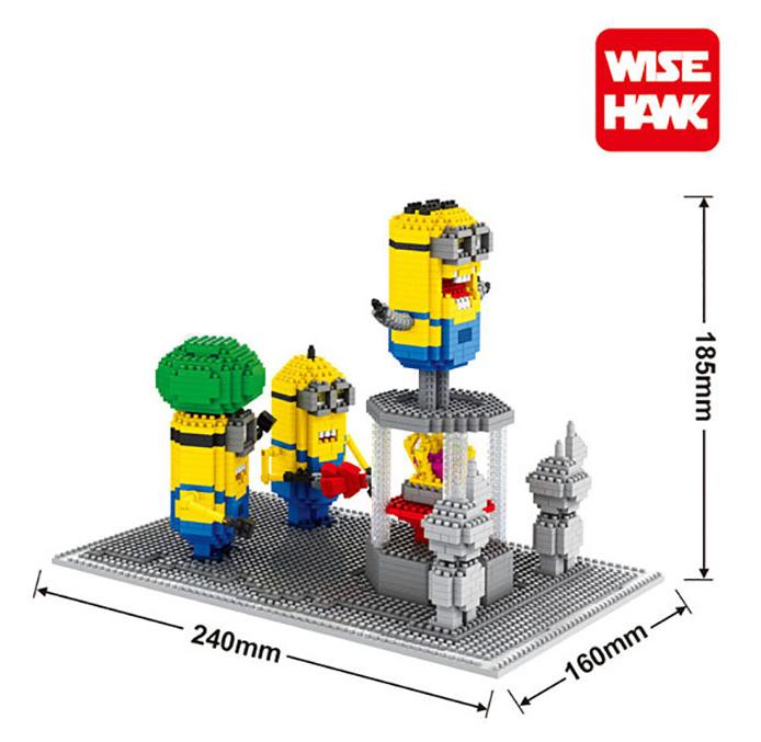 Minions Movie Figure Minifigures Block 3D Diamond Building Blocks ABS plastic Bricks Toy With Box(China (Mainland))
