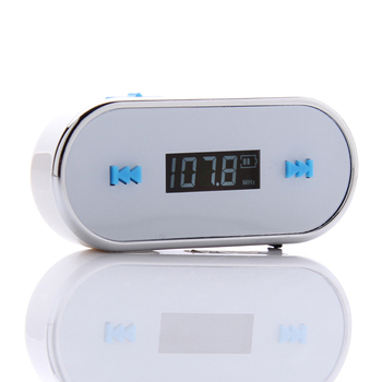Free Shipping New Arrival 3.5mm Wireless LCD Handsfree Car FM Transmitter for iPhone FM Radio Broadcast Transmitter for iPhone