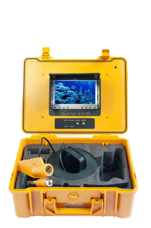 "hotsales 7"" TFT LCD Fishing Camera Kit Fish Finder 50M HD 700TVL Underwater Video Camera System Portable waterproof glue box(China (Mainland))"