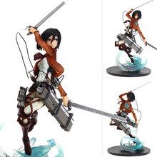 Mifen Craft Trendy Anime High Quality No Kyojin Mikasa Figure Attack on Titan Ackerman PVC figure Full Body 9″