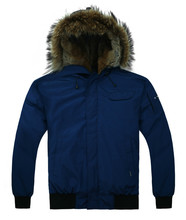2013  Alaska mens winter jackets and coats,down coat jacket,Navy,wholesale,free shipping