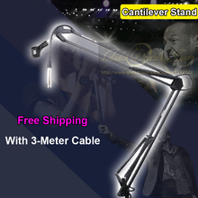 Broadcasting Studio Microphone Stand Shock Mount Folding Desktop Universal Cantilever Support Cantilever Stand With Audio Cable