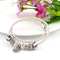 Silver Beads Round shape with family bead Chamilia Spacer European Murano Czech Bead Charm Fit For Pandora Bracelet Charms