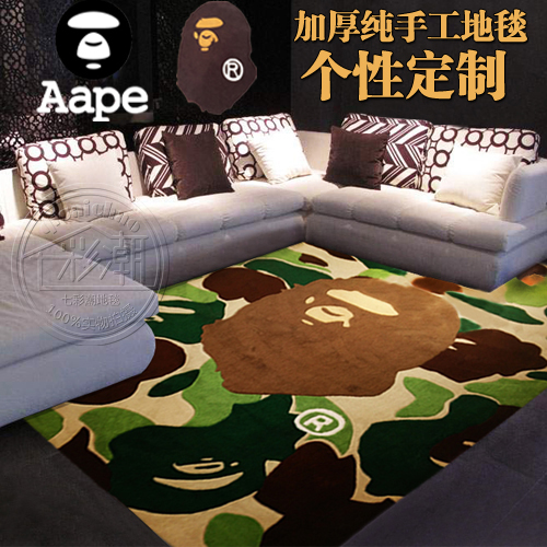 80*120cm Camouflage Aape Japan popular logo BAPE cdgplay skull spread custom sitting room bedroom carpet mat rug  -  melody's cheap home store