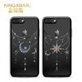 Original Kingxbar Crystals from Swarovski Stars Moon Diamond Case For iPhone 7 7 Plus Luxury Plated