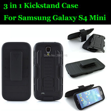 """For Samsung Galaxy S4 SIV Mini i9190 i9192 i9195 i9198 4.3"""" Shockproof Future Armor Belt Clip Holster Case With Kickstand Cover(China (Mainland))"""