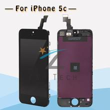 50PCS/LOT Surperior Quality Conque for iPhone 5C Screen Original AAA LCD Display Digitizer Assembly in Black Free DHL Shipping(China (Mainland))