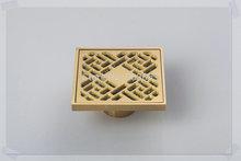 5404 Construction & Real Estate Fashion Ross Antique Brass Grate Floor Register Waste Drain 4″ x 4″ Flower Art Floor Drain ducha
