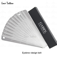 12 Different eyebrow template Magic Eyebrow Stencil  Eye Brow Template Make Up Tool perfect shape Eyebrow design belt(China (Mainland))
