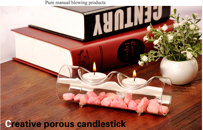 Buy glass tube 2 cote candlestick for for Home party tube