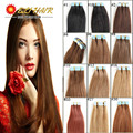 16 18 20 22 24 Remy Tape Human Hair Extensions 20pcs set Virgin Brazilian PU Seamless