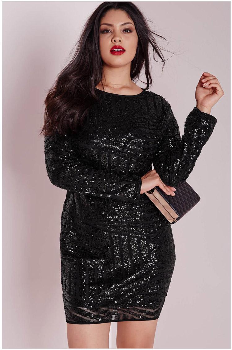 Блестящее черное платье 184