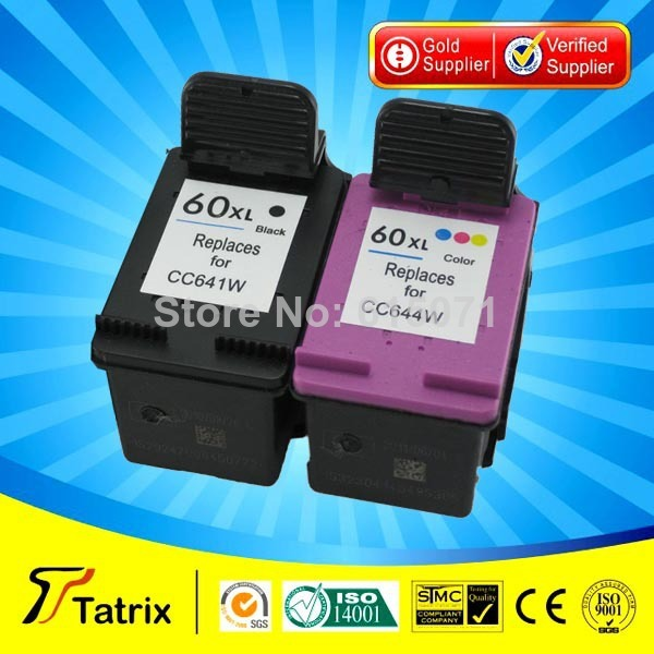 2PK NEW Compatible ink cartridge cartucho for hp 60 for Deskjet F2560 F2568 cheap ink cartridge printer ,free shipping(China (Mainland))