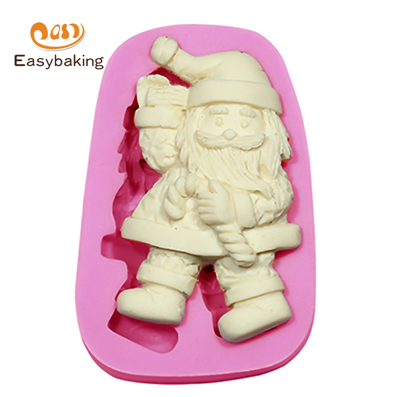 Christmas Cake Decoration Molds : Santa Claus Christmas Mold Silicone Molds Cake Decorating ...